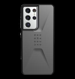 UAG UAG Civilian Case for Samsung Galaxy S21 Ultra 5G - Silver