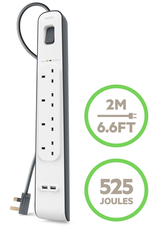Belkin Belkin Surge Protection Strip 2M With 2 USB Charging