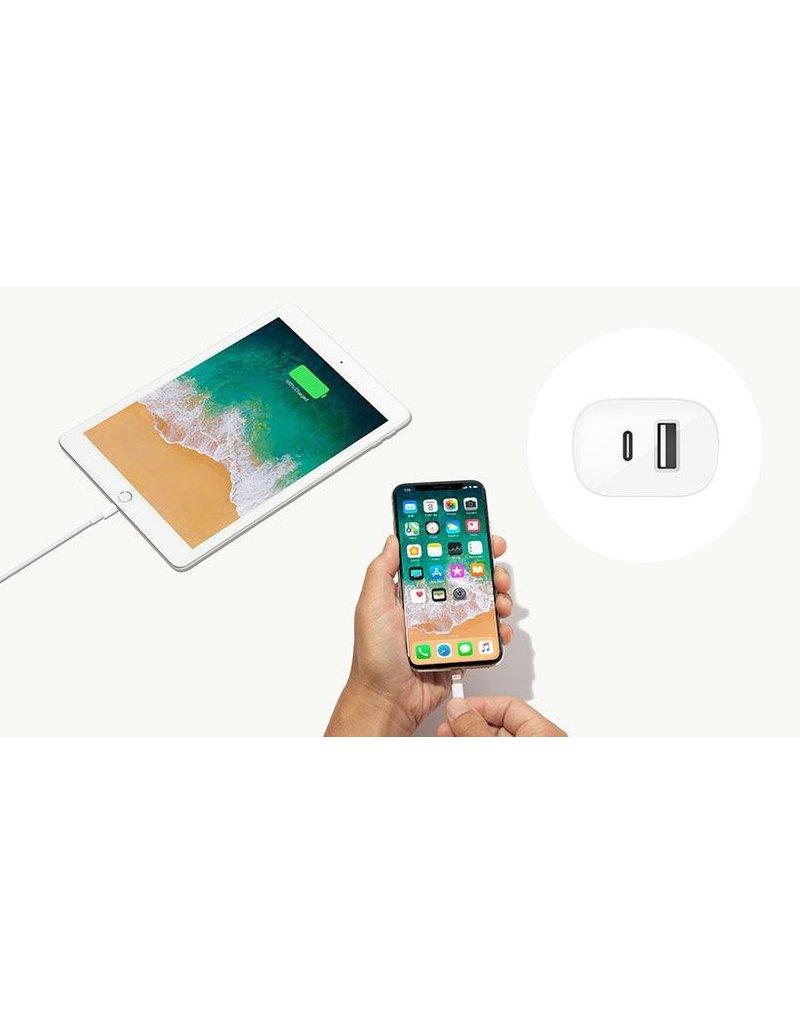 Belkin Belkin Boost Wall Charger  2-Port 32W (20W USB-C PD+12W USB-A) - White