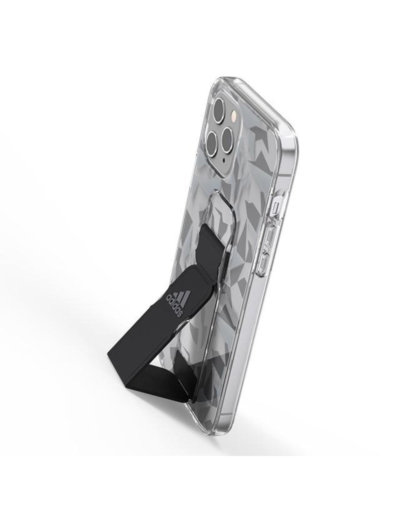 Adidas Adidas Sport Grip Case Clear FW20 for iPhone 12 and 12 Pro - Gray Black