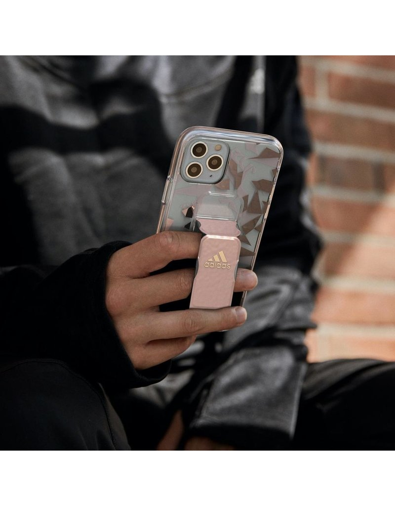 Adidas Adidas Sport Grip Case Clear FW20 for iPhone 12 Pro Max - Pink Tint