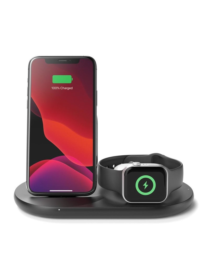 Belkin Belkin Boot Charge 3-in-1 Wireless Charger for Apple Devices UK Plug - Black