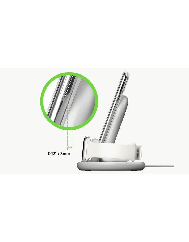 Belkin Belkin Boot Charge 3-in-1 Wireless Charger for Apple Devices - White