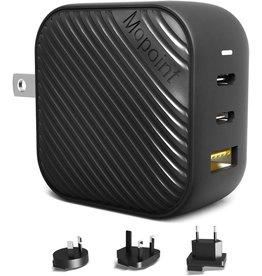 Mopoint GaN USB-C Charger (2xUSB-C+1xUSB-A) 65W - Black