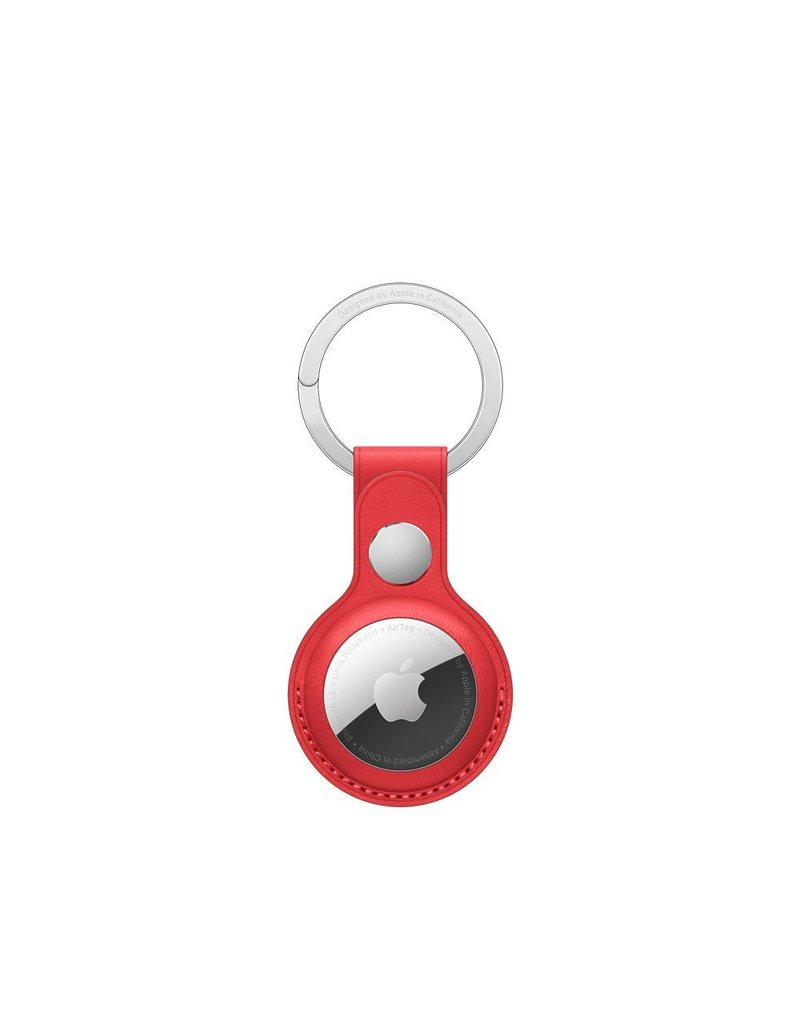 Apple Apple Air Tag Leather Key Ring - Red