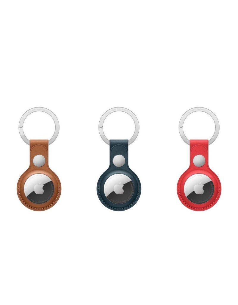 Apple Apple Air Tag Leather Key Ring - Baltic Blue