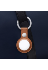 Apple Apple Air Tag Leather Key Ring - Saddle Brown