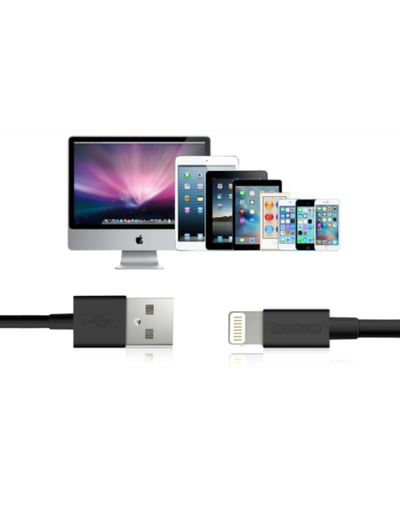 Choetech Choetech MFI Certified USB A to Lightning Cable 1.2m - Black