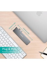 Choetech Choetech 7-in-1 Type-C  Multifunctional Adapter - Gray