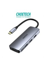 Choetech Choetech 7-In-1 USB-C MultiFunction Adapter - Gray