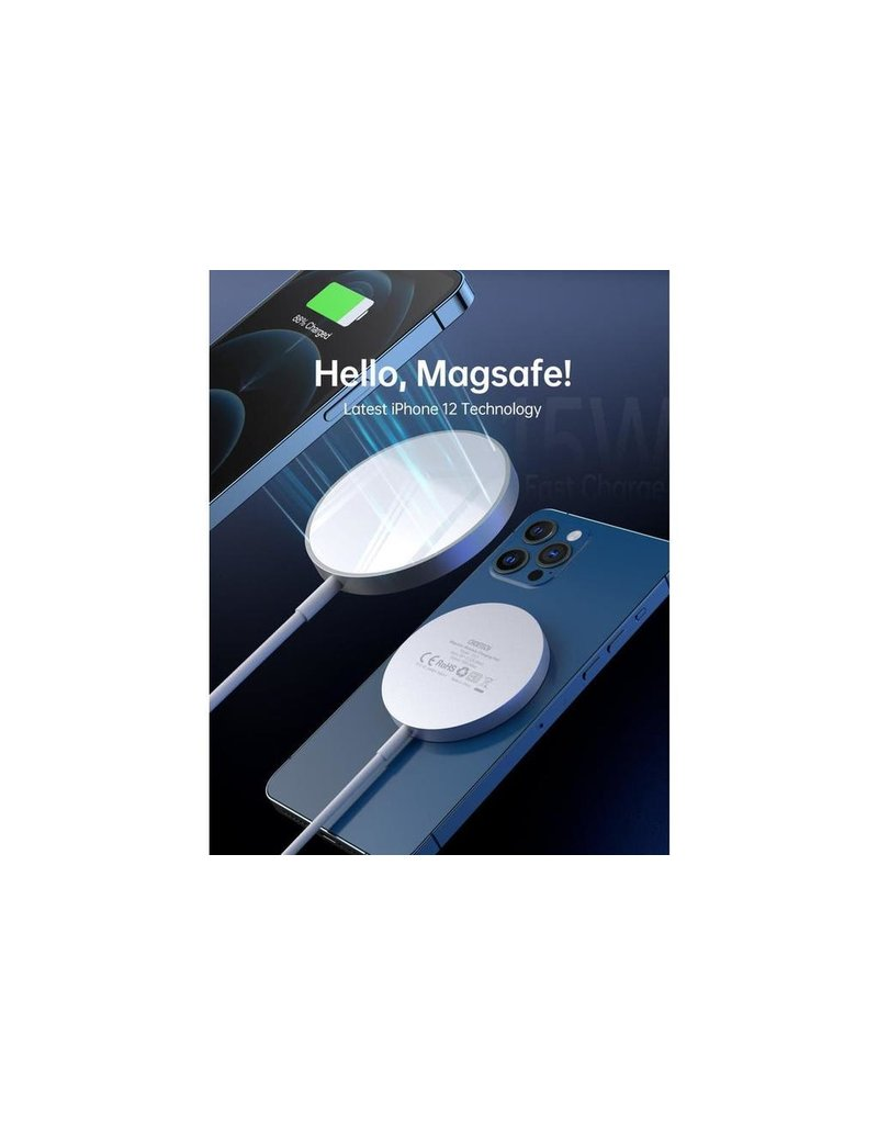 Choetech Choetech Mgnetic Snap-on Magsafe Wireless Charger - White