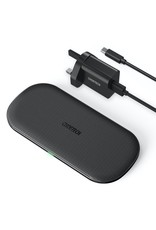 Choetech Choetech 5 Coils Dual Fast Wireless Charger Pad with UK Plug - Black
