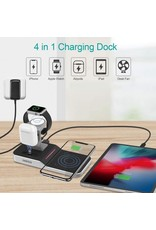 Choetech Choetech  4-In-1 Fast Wireless Charging Dock UK Plug for iPhone Apple Watch - White