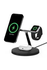 Belkin Belkin Boost Charge Pro 3-In-1 MagSafe Wireless Charging Stand 15w UK Plug - Black