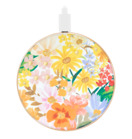 Rifle Paper Co Power Disc Wireless Chatger 10W - Marguerite