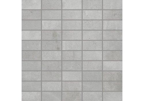 Mozaiek: Rak Mos Grijs 30x30cm