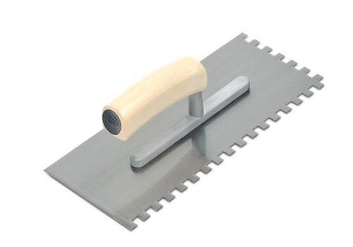 Rubi lijmspaan staal 28 cm 10x10 mm open houten handvat rechthoekig