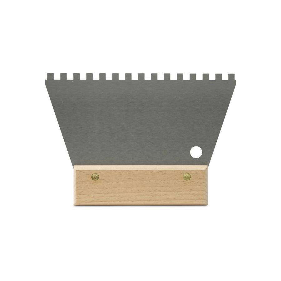 Rubi eenvoudige lijmspaan 18 cm vertanding 6x6 mm met houten greep