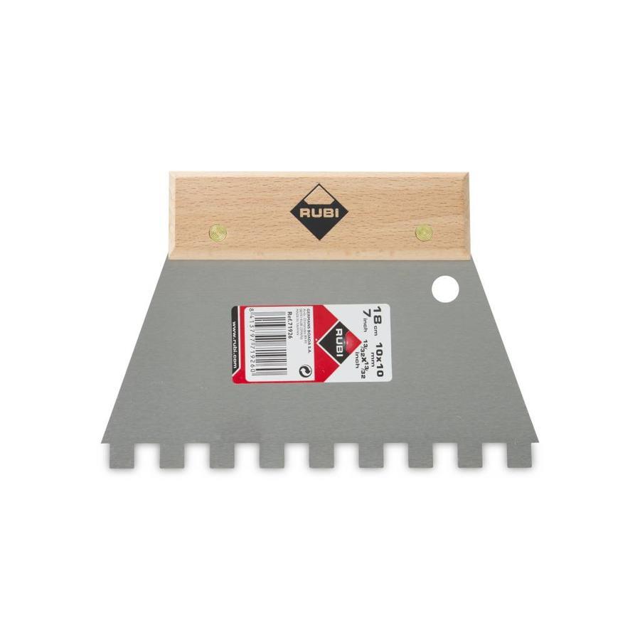 Rubi eenvoudige lijmspaan 18 cm vertanding 10x10 mm houten greep