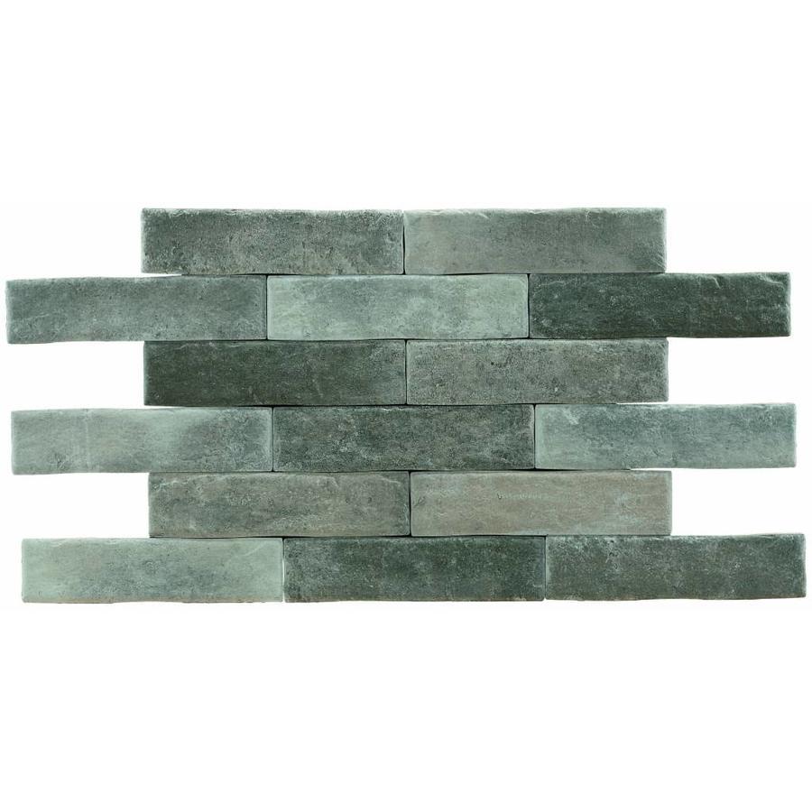 Brick: Pamesa Brickwall Tortora 7x28cm