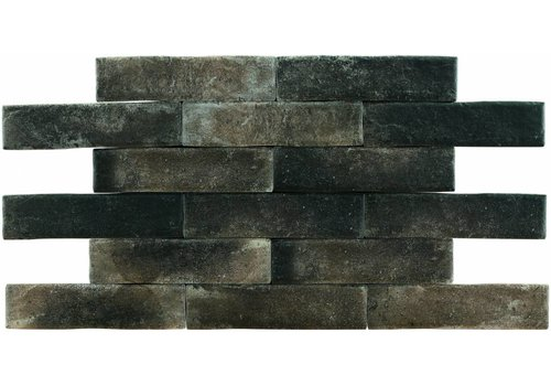 Brick: Pamesa Brickwall Zwart 7x28cm