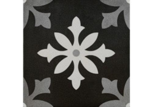 Vloertegel: Pamesa Art Zwart 22,3x22,3cm