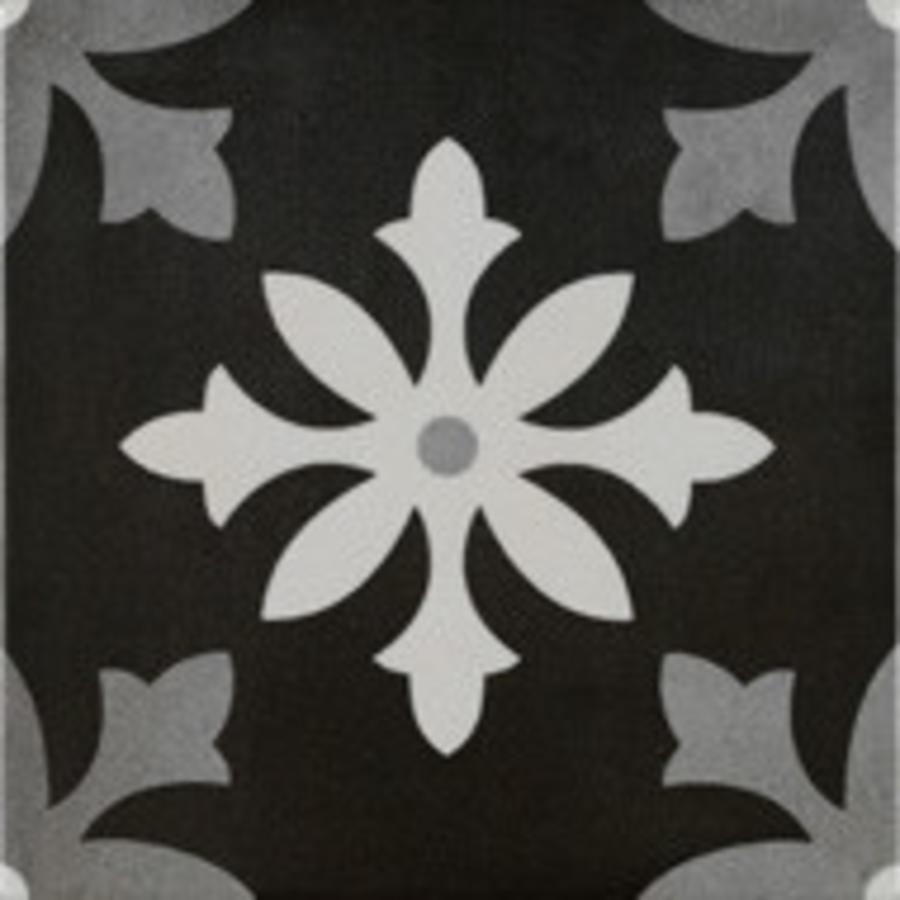Vloertegel: Pamesa Art Degas negro 22,3x22,3cm