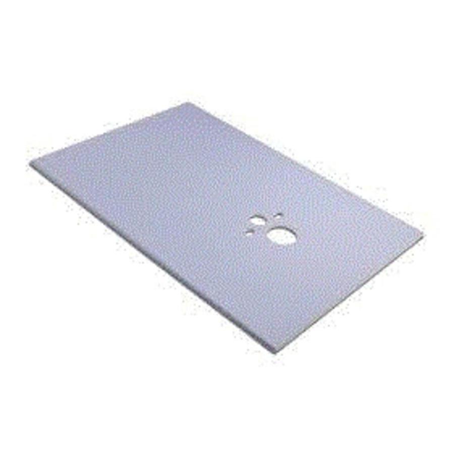 Permoxx WC-board 1200x1245x12 mm bouwplaat incl uitsparingen