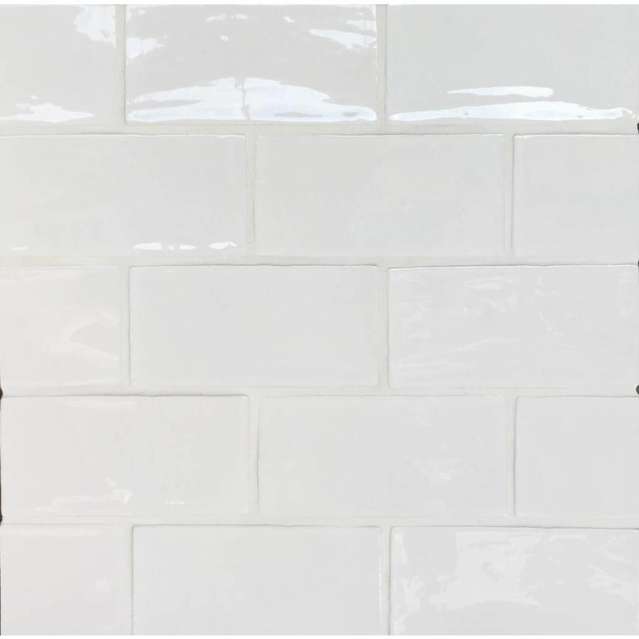 Wandtegel: Dreamtile Handmade glossy White 7,5x15cm