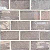 Wandtegel: Dreamtile Handmade glossy Donker grijs 7,5x15cm
