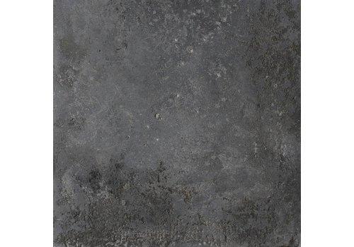 Vloertegel: Isla Stone-pit Nero 80x80cm