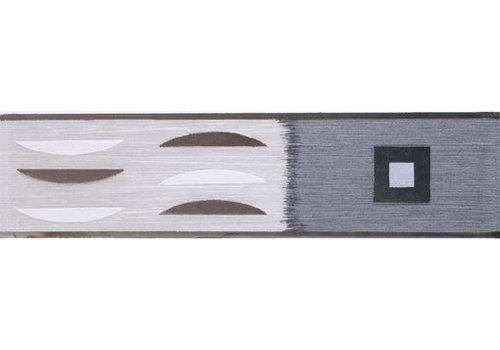 Strip: Cinca Metalizado Grijs 6,5x25cm