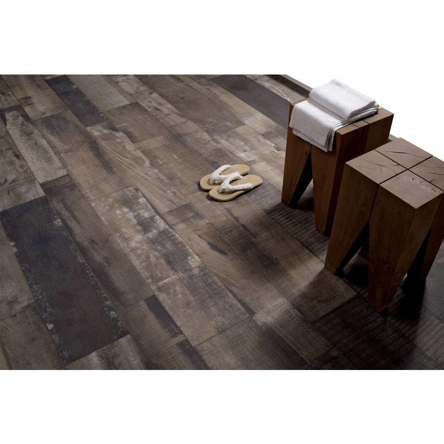 Vloertegel: Fioranese Old Wood Walnut moka 22,5x90cm
