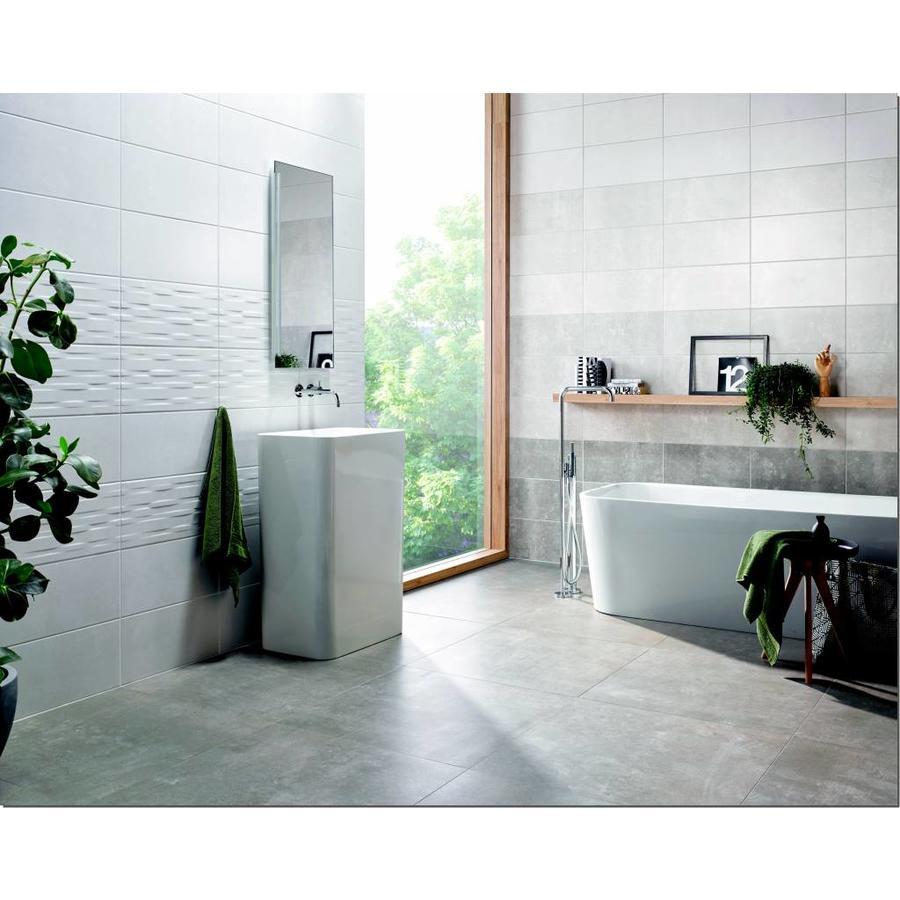 Wandtegel: Steuler Urban Wall Weiss grau 25x50cm