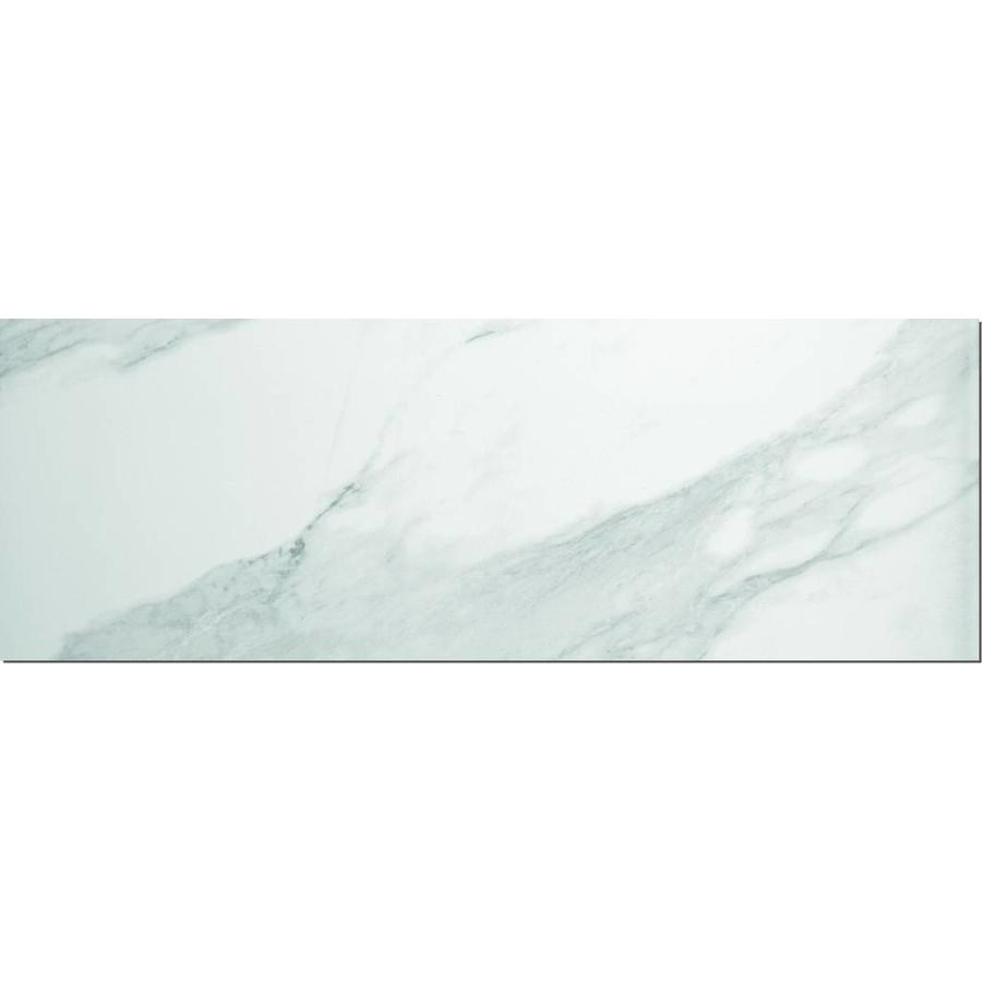 Wandtegel: Steuler Marmor Wit 35x100cm