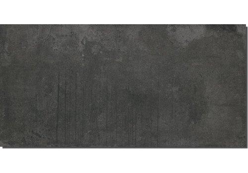 Vloertegel: Nordceram Techno-Score Anthrazit 60x120cm
