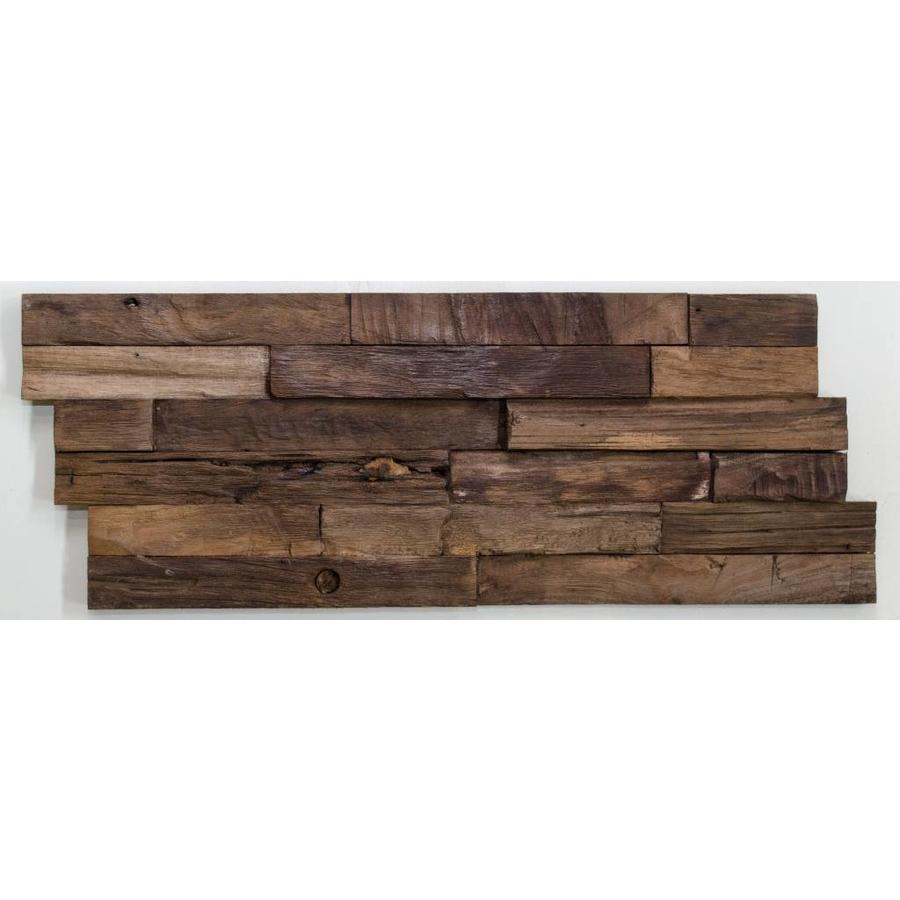 3D wandpaneel El cleaved 200x500 mm charred 3 Trap Z recycled teak