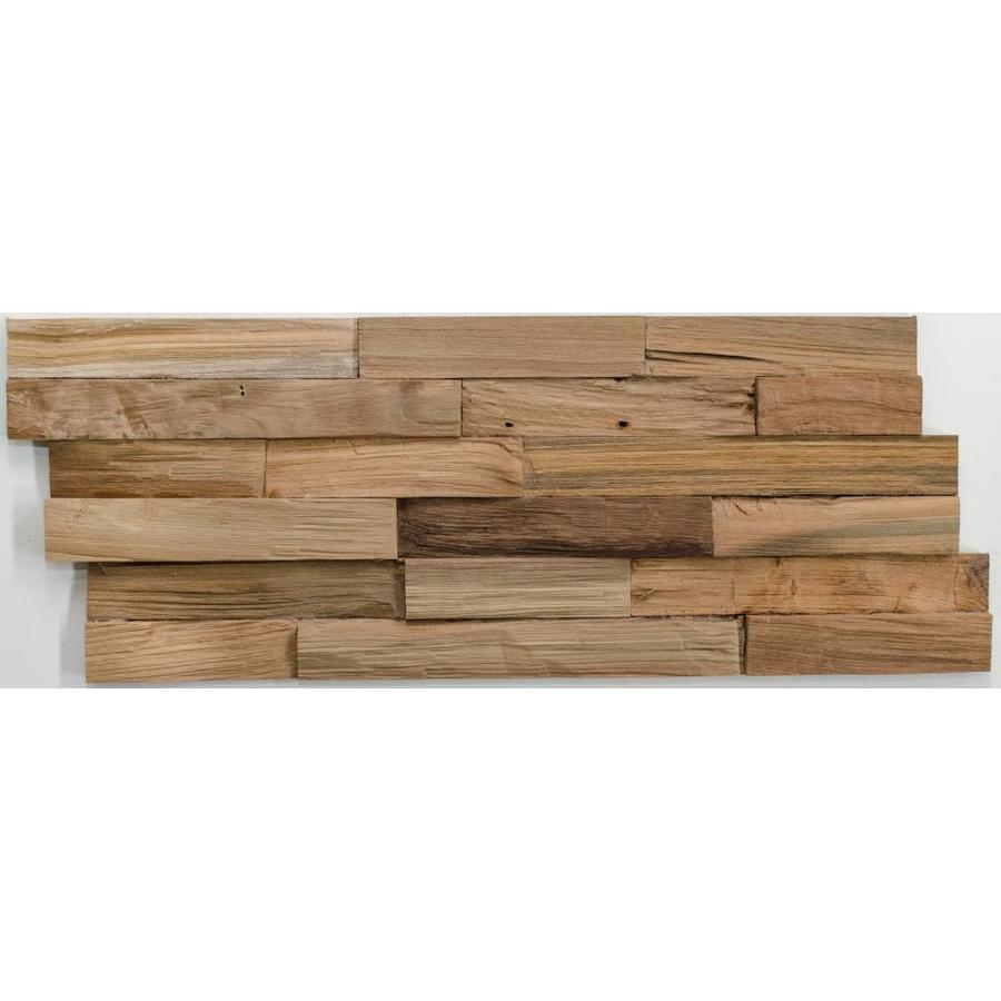 3D wandpaneel El cleaved 200x500 mm naturel 3 Trap Z recycled teak