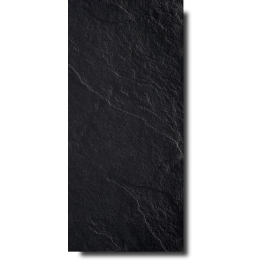 Vloertegel: Eiffelgres Lastranera Zwart 30x60cm