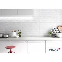 Wandtegel: Cinca Factory Wit 25x45cm