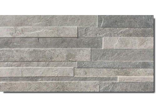 Vloertegel: Fiordo Tracks Dark blend 30x60cm