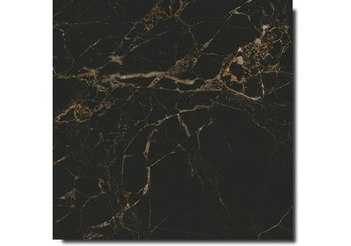 Vloertegel: Caesar Anima Select Nero atlante lucidato 60x60cm