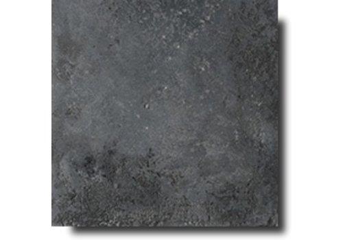 Vloertegel: Isla Stone-pit Nero 20x20cm