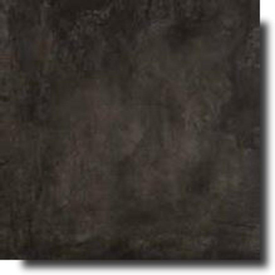 Vloertegel: Rak Basic Zwart 75x75cm