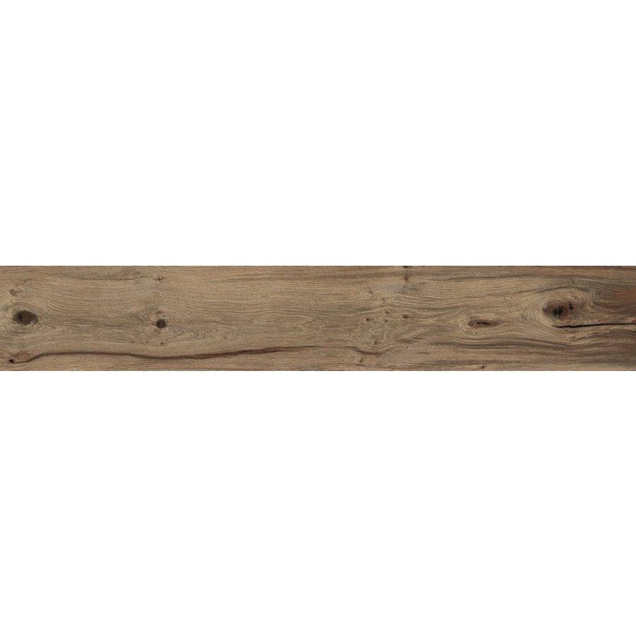 Vloertegel: Flaviker Nordik Wood Brown 20x120cm