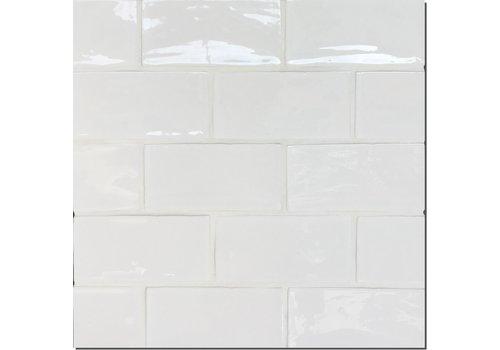 Wandtegel: Dekostock Atelier White 7,5x15cm