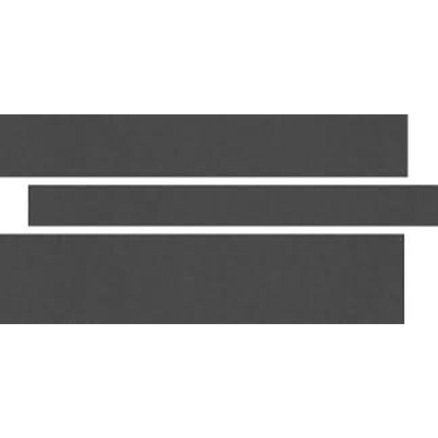 Vloertegel: Rak Gems Zwart 15x60cm