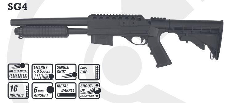 Combat Zone SG4 Shotgun -Springer - 0,50 Joule