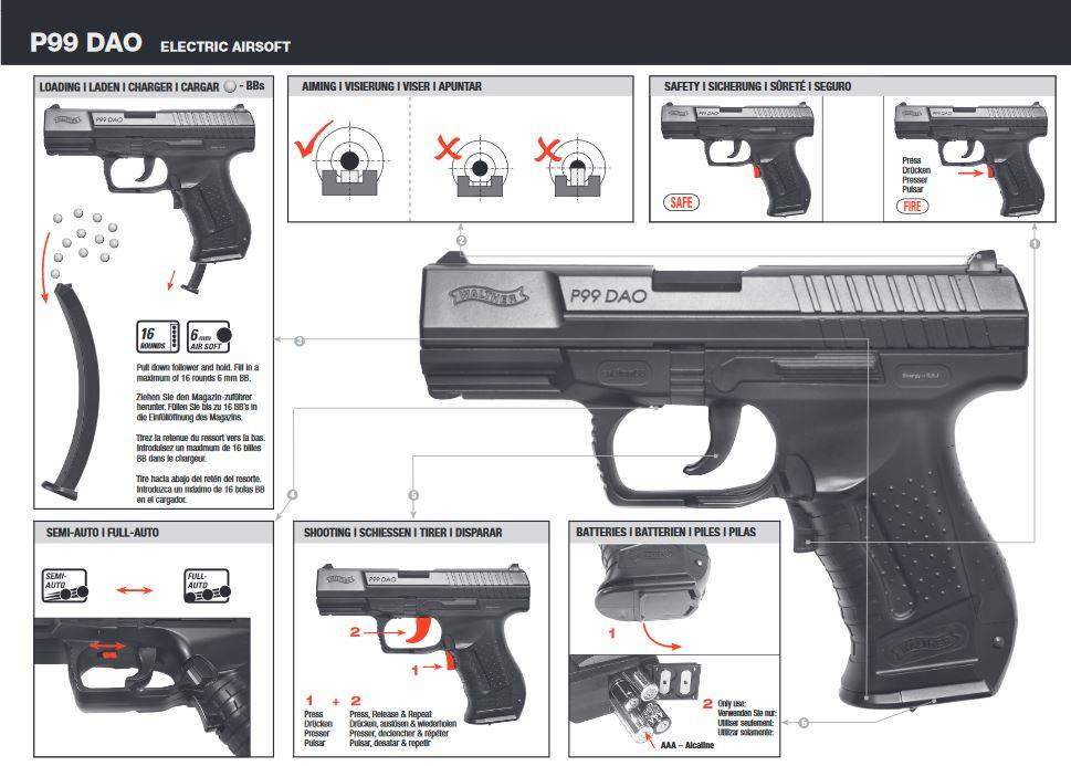 Walther P99 DAO EBB - 0,50 Joule