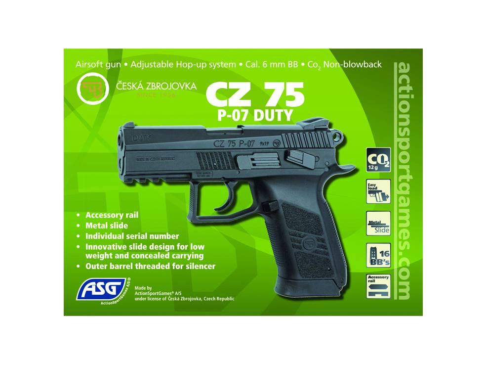 ASG CZ 75 P-07 Duty - Co2 NBB - 1,30 Joule